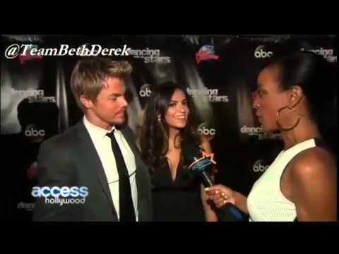 Bethany Mota & Derek Hough - Post cast announcement interviews - Season 19