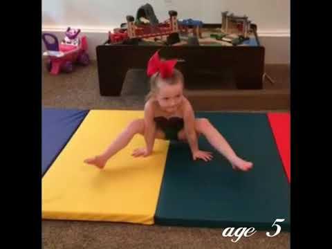 Kaylee's gymnastics evolution age 3-6