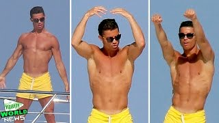 Shirtless Cristiano Ronaldo Dancing on a Yacht