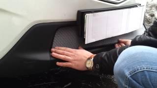 Видео: Установка защиты радиатора Mazda cx5 серебро