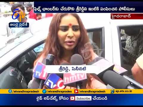 Actress Sri Reddy Protests Half Naked | Hyderabad