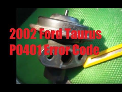 2002 Ford Taurus error code P0401