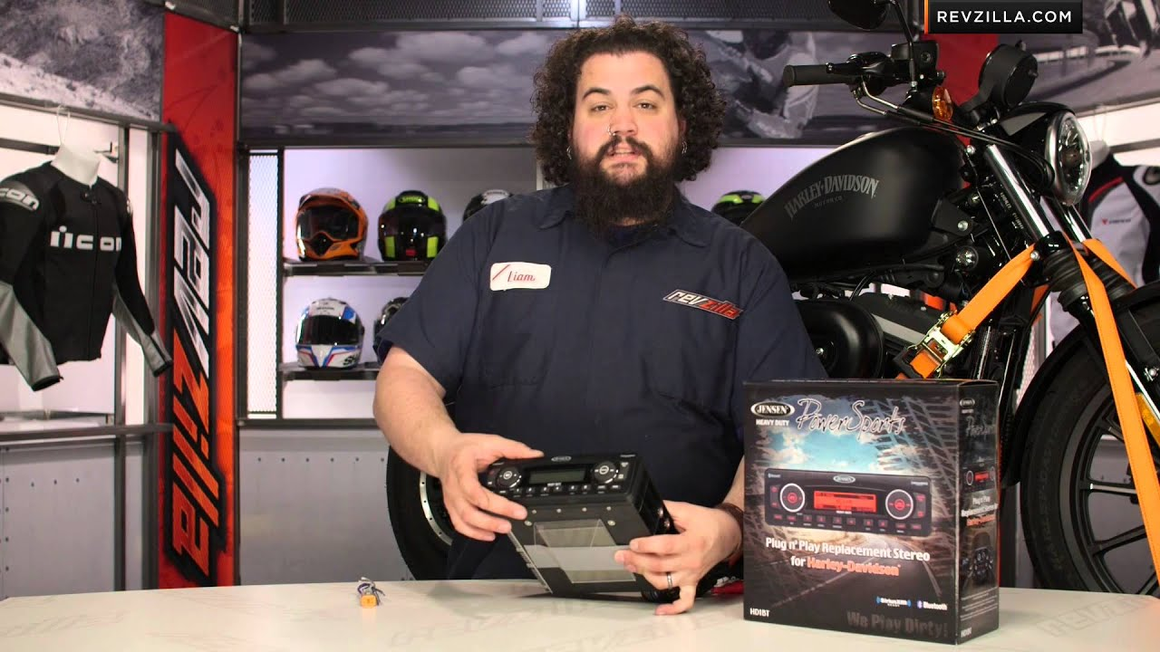 jensen replacement stereo  harley touring review  revzillacom youtube