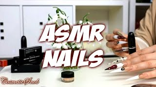 LONG ACRYLIC NAILS TAPPING ON MAC MAKEUP ASMR INTENTIONAL