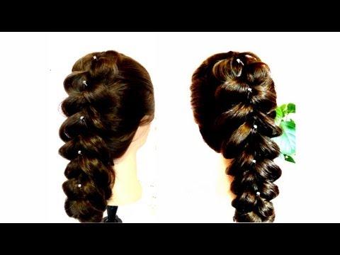Быстрая прическа на каждый день.Объемная коса.Easy everyday hairstyles