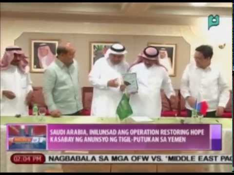 Saudi Arabia, inilunsad ang 'Operation Restoring Hope' kasabay ng tigil-putukan sa Yemen