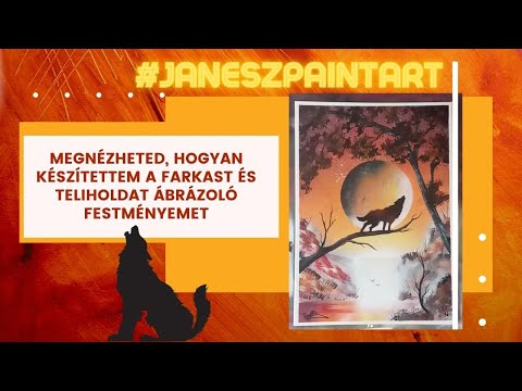 Full Moon Wolf 2 Spray Paint Art by Janesz