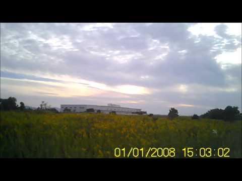 2012年10月13日豊川浄化センター ミニロケット打ち上げ(機体搭載カメラからの映像)