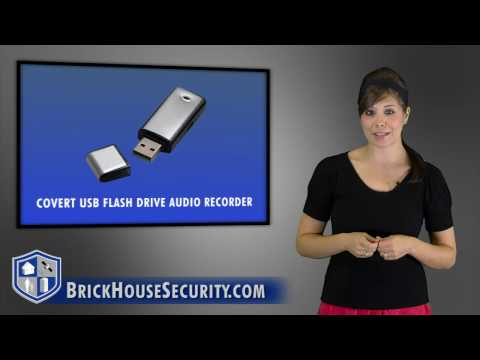Tiny USB Flash Drive With Built In Voice Recorder For 40 Hours Of Audio Recording