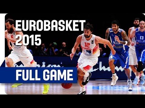 Spain v Greece - Quarter Final - Full Game - Eurobasket 2015