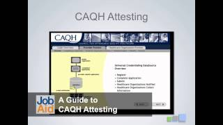 Introduction To Credentialing & CAQH