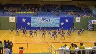 横浜立野高校チア部 MAD.DIVAS in USA School & College Competition 2014