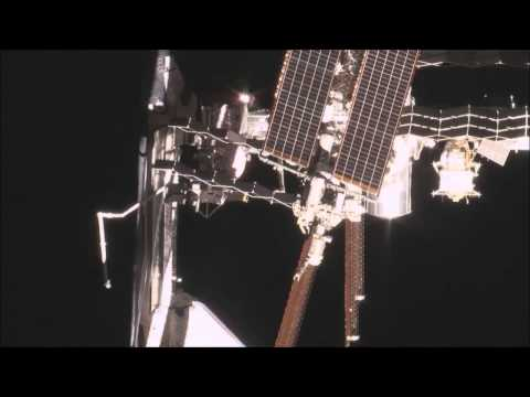 Shuttle ISS Fly-around with Blue Danube