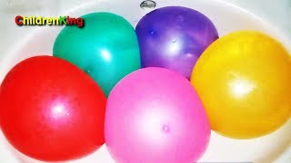 Kids Play And Learn Colors With Water Balloons Finger Family Color Song | Nursery Rhymes For Babies