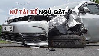Nữ tài xế ngủ gật gây tai nạn trên quốc lộ 1A