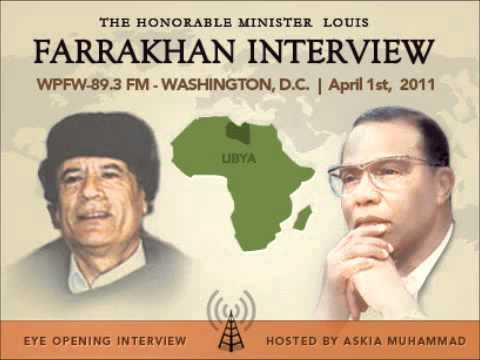 Farrakhan Questioned on Libya & More- WPFW-Pacifica Radio Interview- LIBYA ON WAR.flv