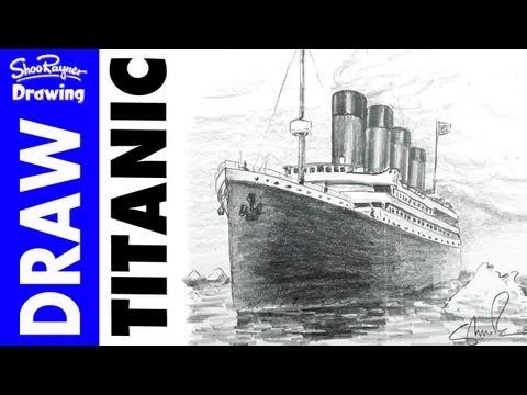 Видео как нарисовать Титаник карандашом