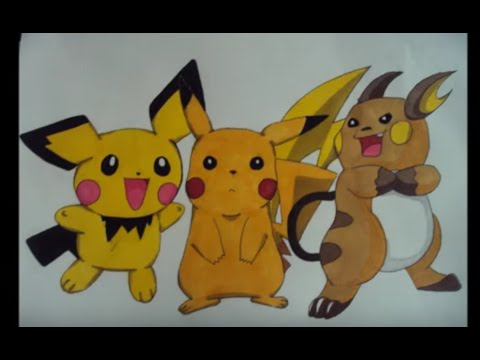 Pokemon Raichu Drawing Pokemon Drawing Pichu