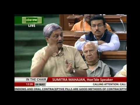 RM Shri Manohar Parrikar's speech on AgustaWestland deal in lok sabha, 06.05.2016