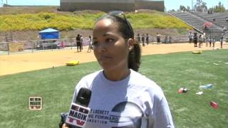 Seba Johnson Olympic Downhill Ski Racer Talks at Bret Locketts Football Camp