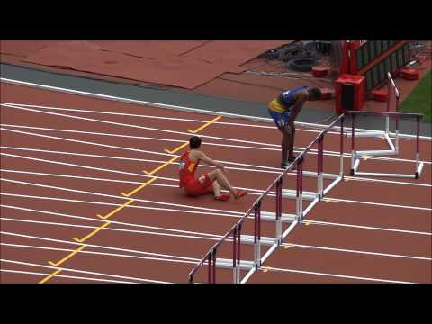 Liu Xiang Crashes Out of the 2012 Olympics. Previously UNSEEN Footage! Live HD 刘翔栏预赛意外