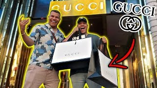 SURPRISING BEST FRIEND WITH $10000 GUCCI (EMOTIONAL)