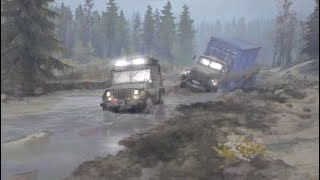 Spintires MUDRUNNER PS4 What will A Jeep pull out of the MUD