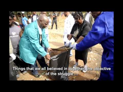 Mangosuthu Buthelezi cleans up on Mandela Day