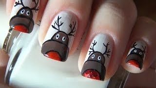 Маникюр с оленями / manicure with deer (New Year manicure)
