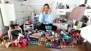 Cleaning Out My ENTIRE Makeup Collection.. *i got rid of it all