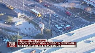 School bus involved in accident in Clearwater