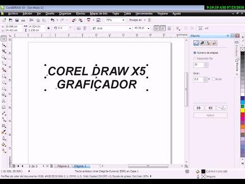 TEXTOS ARTISTICOS EN COREL DRAW