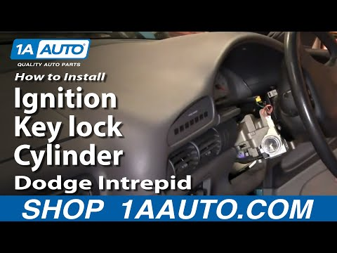 How To Install Replace Fix Ignition Key lock Cylinder Dodge Intrepid 93-97 1