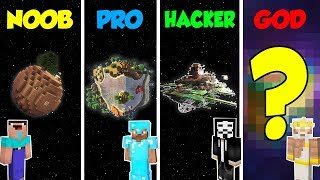 Minecraft NOOB vs PRO vs HACKER vs GOD: SECRET PLANET BASE in Minecraft / Animation