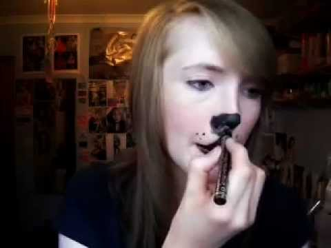 really cute dog/puppy makeup tutorial  youtube