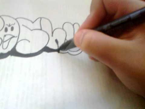 Graffiti en papel roshy youtube - Graffitis en papel ...