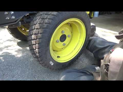 changing tires, Mower deck service and Fixing a weed wacker problem