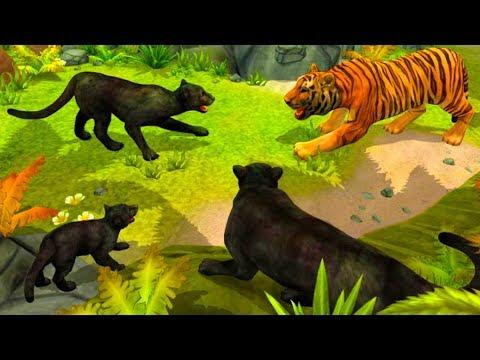 СИМУЛЯТОР ДИКОЙ КОШКИ #7 / котята маленьких пантер / #ПУРУМЧАТА