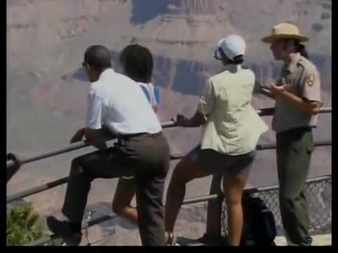 Michelle Obama in Short Shorts at the Grand Canyon?