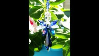 Swarovski Crystal Angel Car Charm by Crystal Blue Designs on Etsy