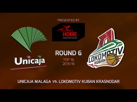 Highlights: Unicaja Malaga-Lokomotiv Kuban Krasnodar