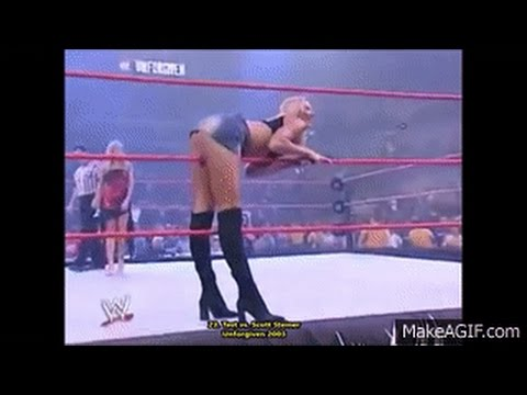 Between the ropes: Stacy Keibler's hottest ring entrances