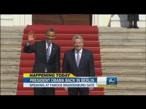 President Obama to Speak at Historic Brandenburg Gate