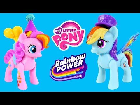 My Little Pony Zoom 'n Go Play Doh Rainbow Power Squishy Pops Pinkie Pie Rainbow Dash Mlp Toys Dctc video