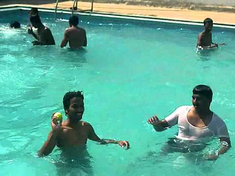Ms Dhoni And Yuvi Fans  Swiming Pool  In Chennai video