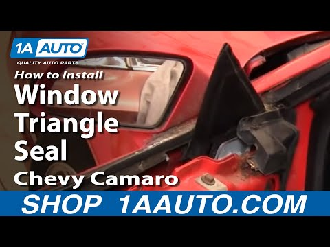 How To Install Remove Window Triangle Seal 82-92 Chevy Camaro IROC-Z Pontiac Tra
