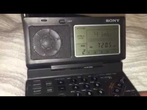 Sony ICF-SW100 trounces Yaesu FRG-8800 - again! Sudan Radio 7205 KHz