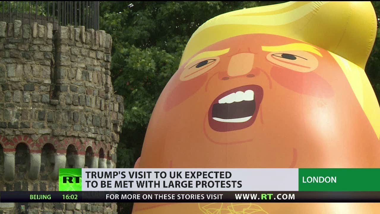 Trump's UK visit expected to be met with large protests