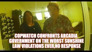 COPWATCH GOES 2 ARCADIA,POLICE DEPARTMENT 2 CONFRONT THEM ON THERE SUNSHINE LAW VIOLATIONS