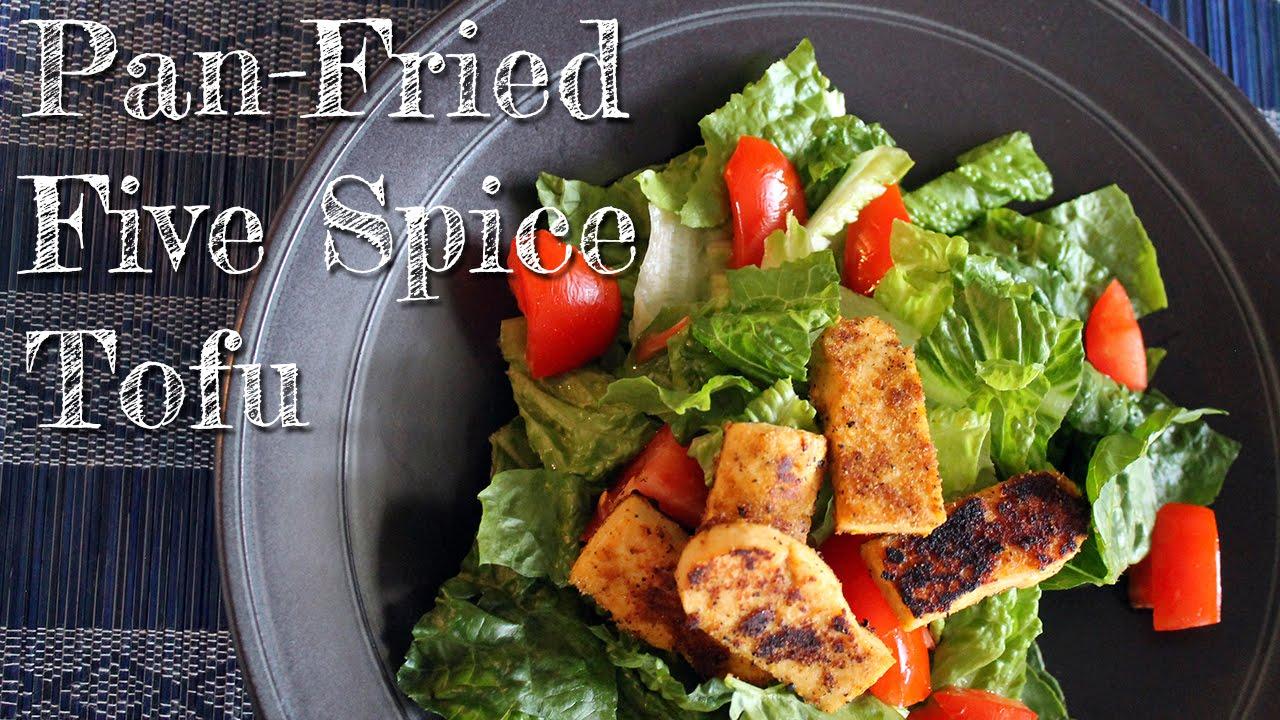 Crispy Pan-Fried Five Spice Tofu [ gluten-free + vegan] - YouTube